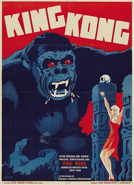 La locandina danese del film King Kong del 1933