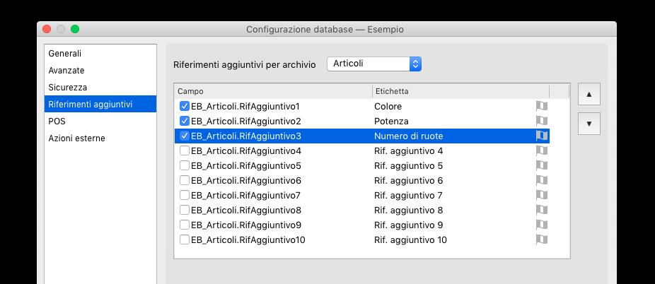Configurazione del database